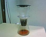 iwaki ウォータードリップコーヒーサーバー・抽出中